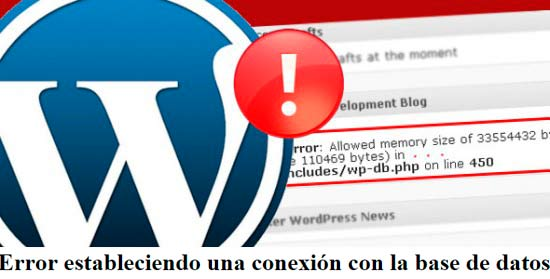Errores WordPress: Error estableciendo una conexión con la base de datos