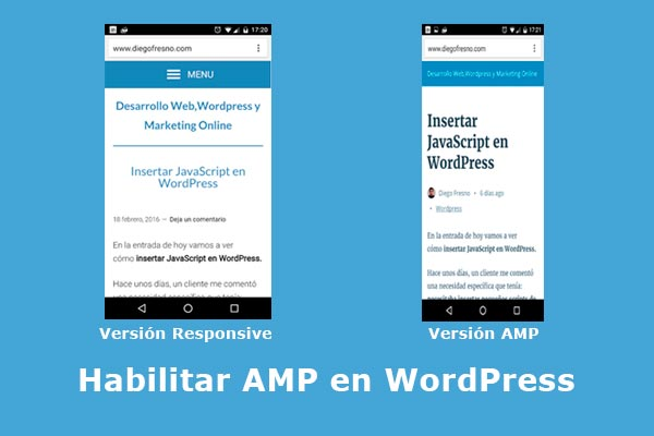 Habilitar AMP en WordPress