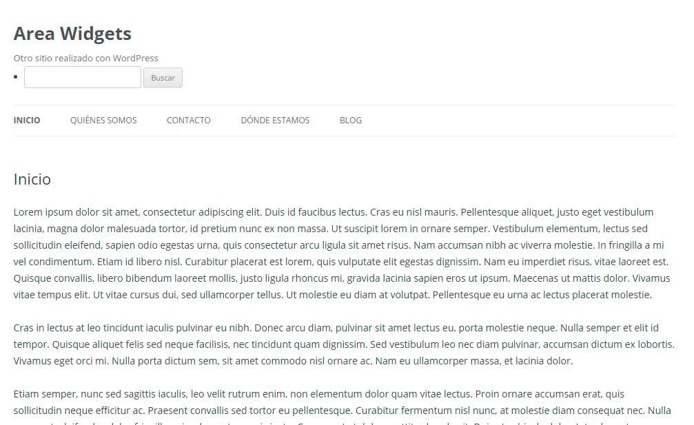 Nuevo widget wordpress