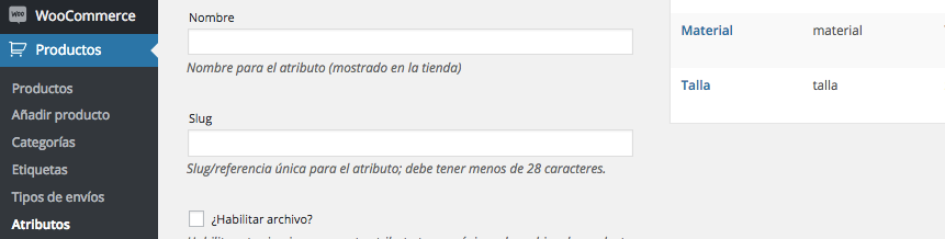 CPT productos Woocommerce